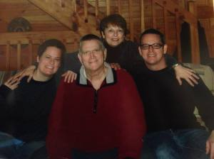 This was our last family photo taken of the four of us...well, five of us - I'm pregnant here but didn't know it yet.